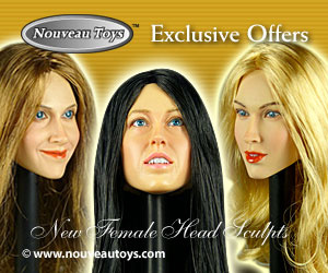 1/6 Nouveau Toys Exclusive Female Head Sculpts Banner