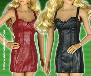 1/6 Scale Pop Toys Haute CoutureFemale Leather Mini Dresses