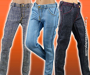 Vogue 1/6 Scale Slim-Fit Denim Jeans Banner
