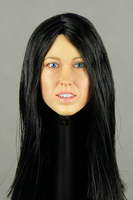 Nouveau Toys 1/6 Scale Female Head Sculpt Corina With Hairpiece - NT003BK